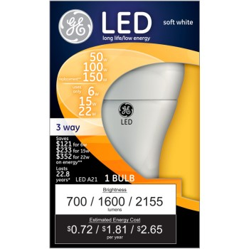 ... UPC 043168921190 product image for General Electric 92119 Led 3way Bulb | upcitemdb.com ...