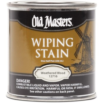 Wiping Stain,  Weathered Wood ~  Half Pint