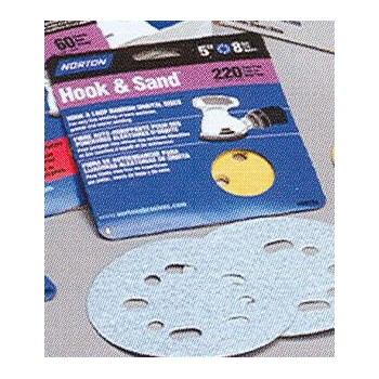 Norton 076607492197 49219 5x8 180 Hook & Sand Disc