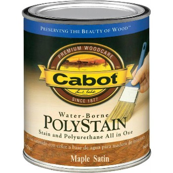 PolyStain, Water Borne - Maple/Satin~ Quart