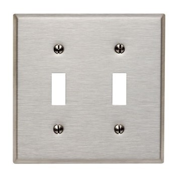 Ss Dble Switch Plate