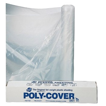 Clear Poly Polyethylene Sheeting ~ 10'  X 100' x 6 mil