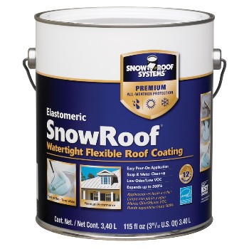Snow Roof/KST  KST000SRB-16 Elastomeric Snow Roof Coating, Bright White ~ 3.40 Liters