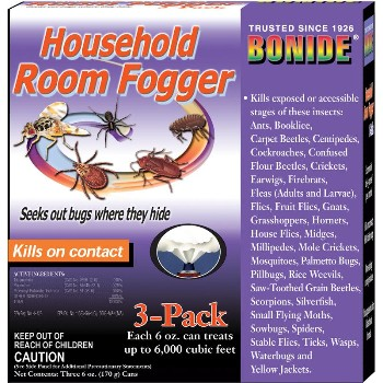 Room Fogger ~ Insect Pests,  3 Can Pack