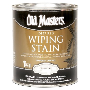 Wiping Wood Stain  240 VOC, Crimson Fire ~ Quart