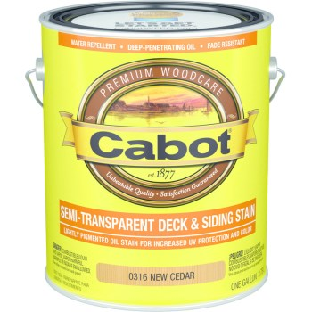 Exterior Stain, Semi-Trans  Oil ~ New Cedar, Gallon
