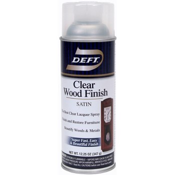 Deft 01713 Clear Wood Finish, Satin ~  13 oz Spray Cans