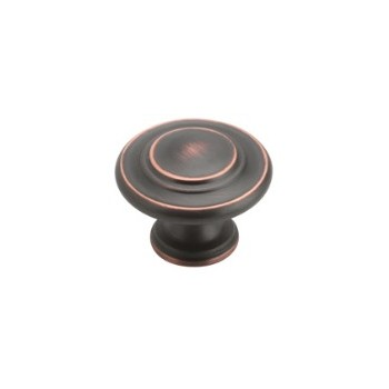 Knob - Oil Rubbed Bronze Finish - 1 3/8 inch