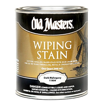 Old Masters 11804 Wiping Stain for Wood ~ Dark Mahogany/One Quart