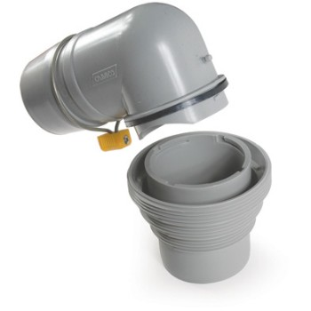 Sewer Adapter, 4-in1 w/ Elbow