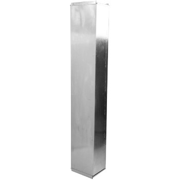 "Gray Metal Prods  Trunk Duct ~ 16"" x 8"" x 48"""