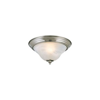 Ceiling Light Fixture, Bristol Brushed Nickel/White