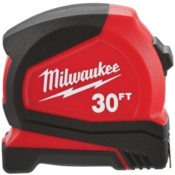 Milwaukee Brand Compact Tape Measure ~ 30 Ft