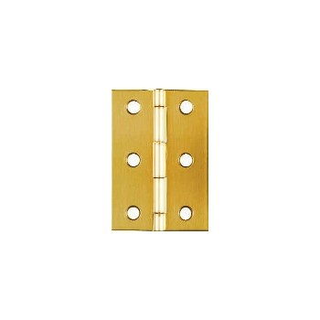 Solid Brass/Pb Broad Hinge, Visual Pack 1802 2-1/2x1-3/4  inches