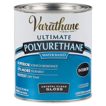 Rust-Oleum 200041 Varathane Crystal Clear Polyurethane,  Gloss ~ Quart