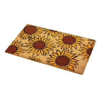 "Qrri Inc IM180-18X30SUNF Sunflowers Coir Entrance Mat ~ 18"" x 30"""