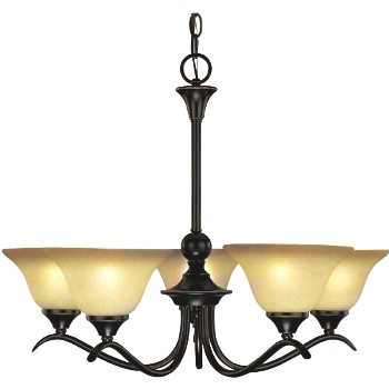 Chandelier,  5 Light  Dover ~ Classic Bronze Finish