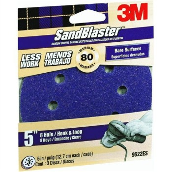 3M 9522 Sandblaster Sander Disc ~ 5in. 80gr