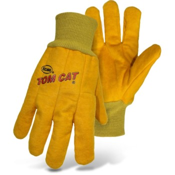 Tom Cat Chore Gloves w/Flexible Knit Wrist ~ Men's Large