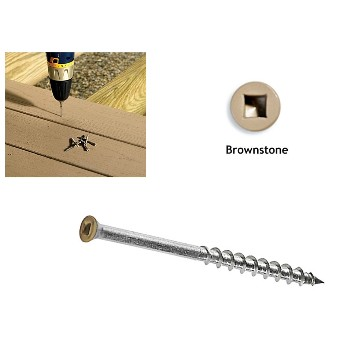 TrimTop Trim Screws, Brownstone ~ 2""