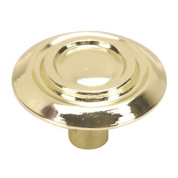 Scroll Cabinet Knob, Brass