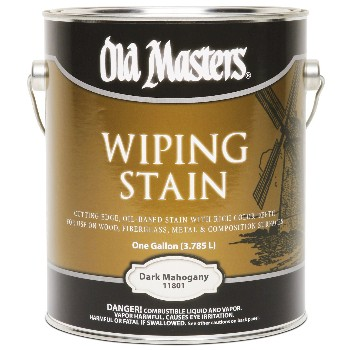 Old Masters 11801 Wiping Wood Stain, Dark Mahogany  ~ Gallon