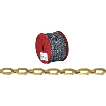 Safety Chain, Brass - 200' roll
