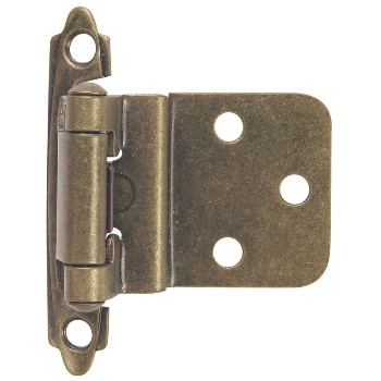Inset Cabinet Hinge, Antique Brass
