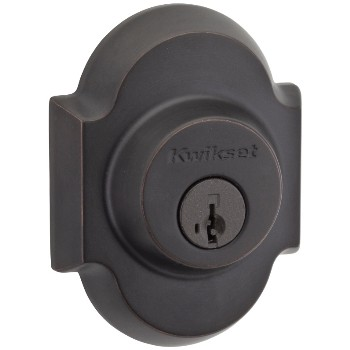 Austin Single Cylinder Deadbolt, Venetian Bronze