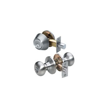 Keylock & Deadbolt Combo ~ Satin Nickel