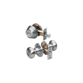 MasterLock BCCO0615 Keylock & Deadbolt Combo ~ Satin Nickel