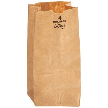 Clayton Paper DUR30904 Kraft Bags #4 Heavy Duty,  Brown
