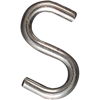 S Hook - Open/Heavy Stainless Steel   ~  3""