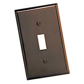 Switch Plate, Single - Oversized ~ Brown