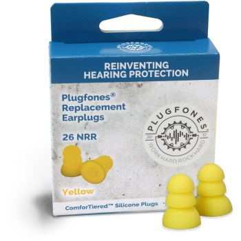 ComforTiered Replacement Silicone Plugs,  Yellow