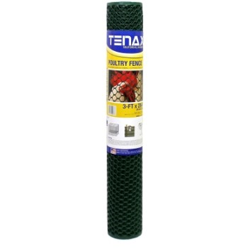 Poultry Fence Netting, Green ~ 3' x 25'