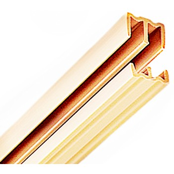 "Sliding Door Track Set, Tan ~ 1/2"" x 4 Ft"