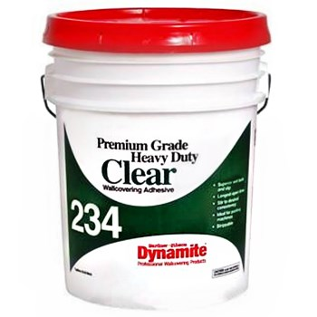 Gardner-Gibson 7234-300-20 Dynamite 234 Heavy Duty Wallcovering Adhesive, Clear ~ Gallon