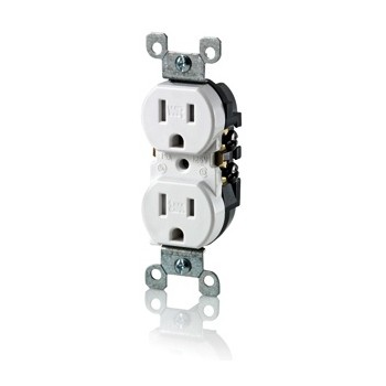 Weather and Tamper Resistant Duplex Receptacle ~ Ivory