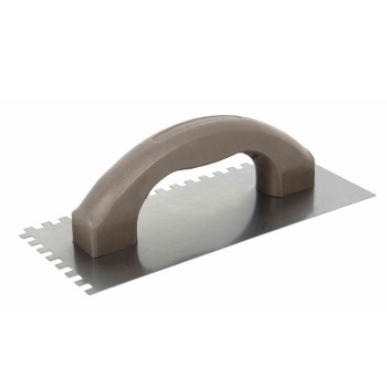 "Plastic Handle Notched Tile Trowel ~ 1/4"" x 1/4"" x 1/4"""