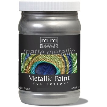 Matte Metallic Paint ~ Platinum, 6 oz