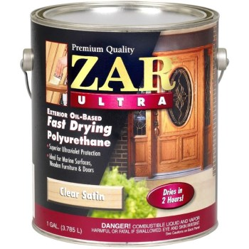 UGL 34113 ZAR  Ultra Exterior Oil-Based Polyurethane,  Clear Satin Finish  ~  Gallon