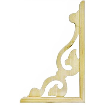 Blossom Design Corner Bracket, 14 - 1 / 2 x 9 - 1 / 2 inches.