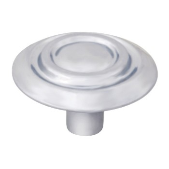 Scroll Cabinet Knob, Satin Nickel