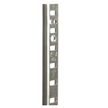 """Knape & Vogt PK255 ZC 24 Shelf Standard, Zinc ~ 4"""""""