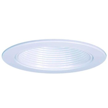 Cooper Lighting/Regent RE-4001WB Halo Plastic Step Baffle Trim, White ~ 4""