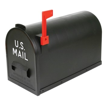 Flambeau 6532MC Rural Mailbox # 2, Black