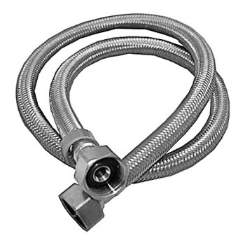 "Braided Stainless Steel Faucet Connector ~ 1/2"" FIP x 1/2""  FIP x 36"" L"