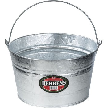 Behrens Mfg  C17 Galvanized Pail, Heavy Duty ~ 4.25 Gallons