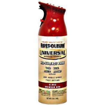 Buy The Rust Oleum 247562 Universal Spray Paint Crimson Red 12oz Hardware World